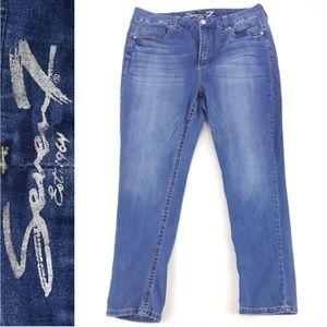 Seven 7 Skinny Womens 18W Tummyless Slimmer Jeans